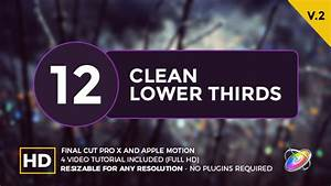 final cut pro lower thirds templates - clean lower thirds for final cut pro x by whitemarker