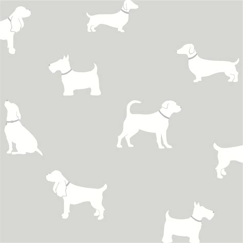 colours pooch grey dogs mica effect wallpaper