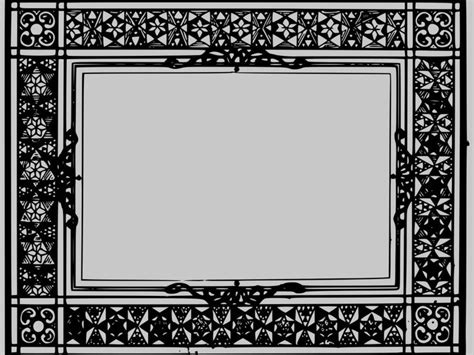 Old Antique Frame Ppt Backgrounds Is A Black And Grey