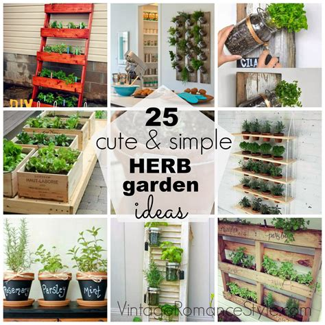 cute simple herb garden ideas vintage romance style