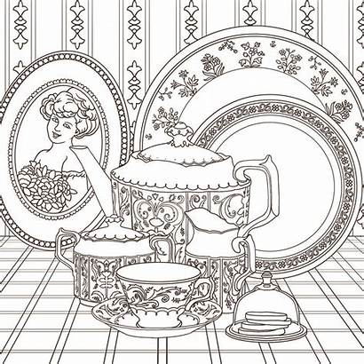 Coloring Tea Adult Pages Adults Sets 유럽