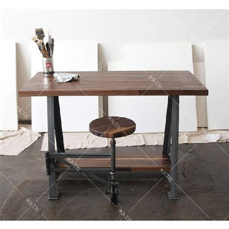 wrought iron computer desk nordic industrial vintage wrought iron wood work computer