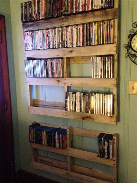 build a dvd cabinet pallet dvd shelf arroyo bend pinterest caves this