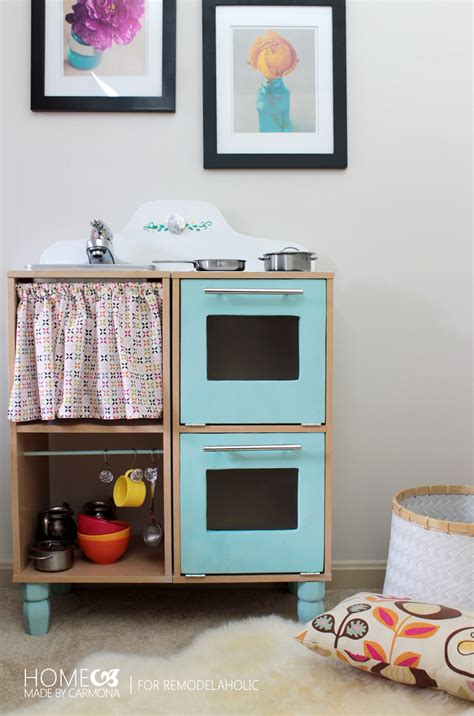 remodelaholic cute easy kids play kitchen   cube