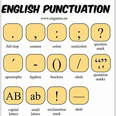 English Punctuation  Games To Learn English  Games To Learn English