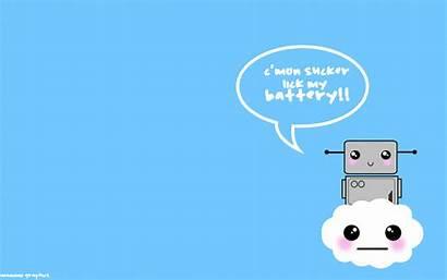 Kawaii Wallpapers Desktop Robot Background Rilakkuma Cat