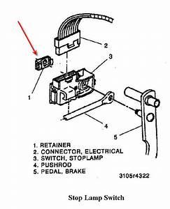 Brake Switch Retainer Clip -95 K1500 Burb