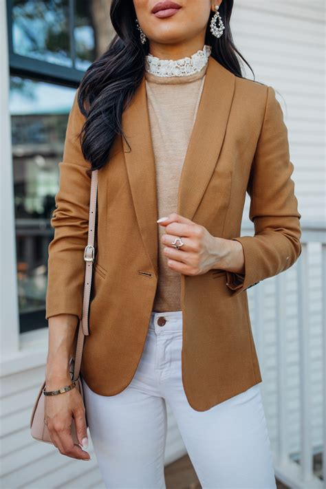 casual brown blazer outfit      buying
