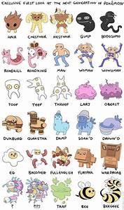 artist creates hilarious new pokemon