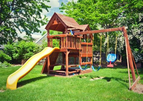 Backyard For Children by How To Waste 2 000 On Your With A Backyard Playset
