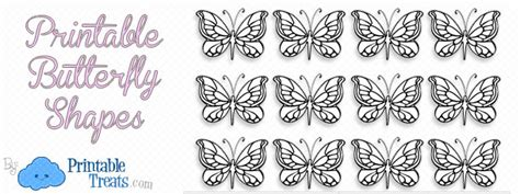 printable butterfly shapes printable treatscom
