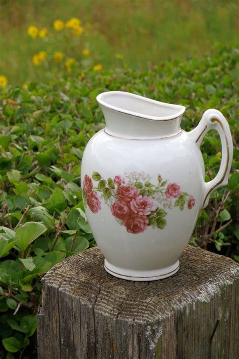vintage ironstone pitcher creamer tea party table top decor antique ironstone bud vase