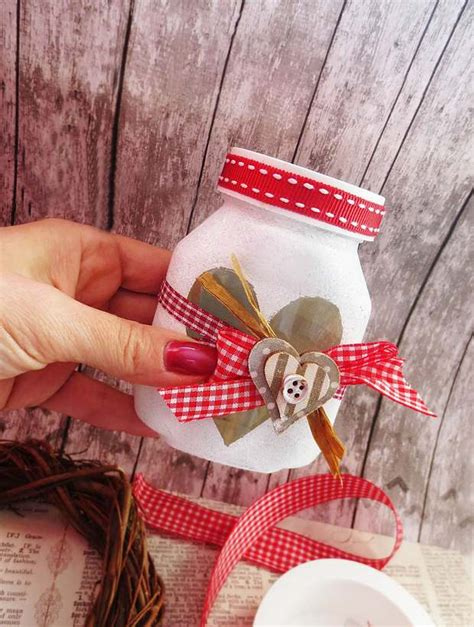 valentines day crafts  glass jar decorations  gifts