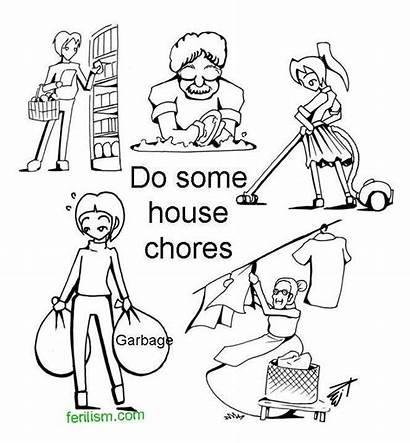 Chores Coloring Doing Helping Others Template Popular