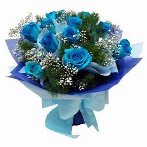 Dark Charming 12 Blue Rose Bouquet, Delivery in Delhi ...