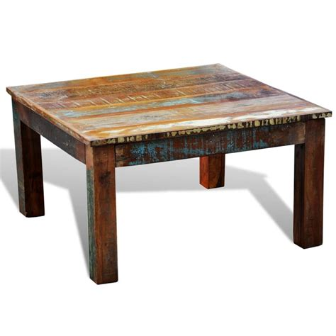 I'm trying to find the end table to match. vidaXL Coffee Table Square Solid Reclaimed Wood Vintage Side Recycled End   Buy Coffee Tables ...