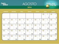 Bem Estar Imprima o calendário para organizar sua rotina