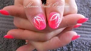 Ongles En Gel Rose : ongles corail fluo ~ Melissatoandfro.com Idées de Décoration