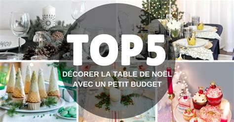 decoration de noel table pas cher
