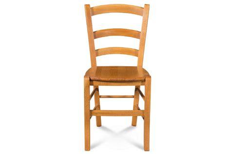 chaise en bois massif tina assise bois coloris chene