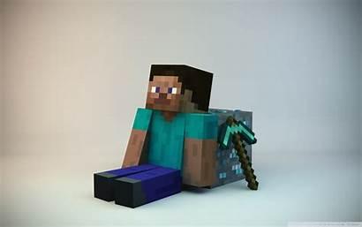 Minecraft Steve Pickaxe Mojang Ore Background Profile