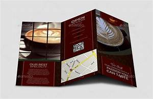 Product Brochure Design Template Coffee Brochure Template By Leetspeak Graphicriver