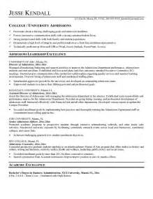 template for high resume for college admissions free admissions director resume exle