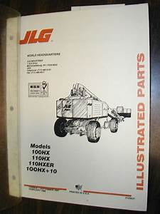 Jlg 100hx 110hx Hxer Parts Manual Book Catalog Boom Lift