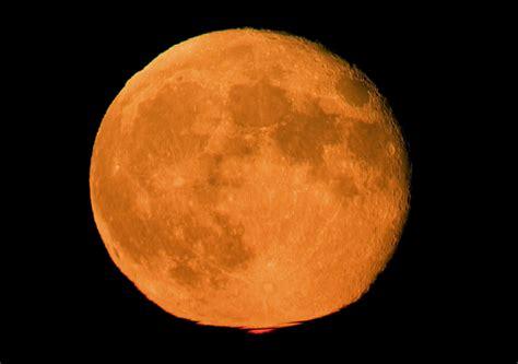 beautiful orange moon picture weneedfun