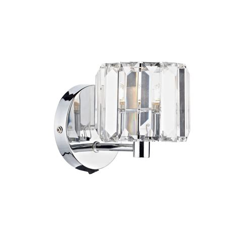 modern chrome wall light individually switched