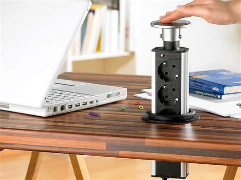 gadgets bureau multiprise coulissante encastrable pour passe câbles 3