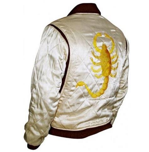 slim fit drive biker rider trucker hot ryan gosling jacket embroidered scorpion ebay