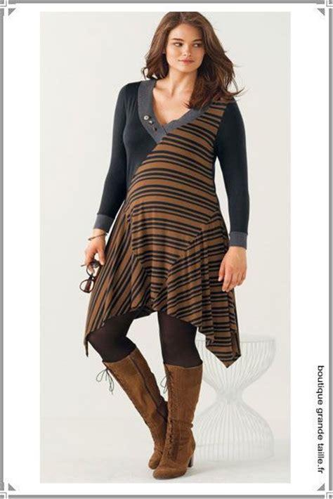tunique longue asym 233 trique unie et rayures se porte aussi en robe avec des bottes hautes en