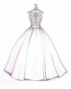 ball gown wedding dress sketch by catie stricker howell With how to draw a wedding dress