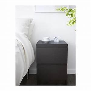 Ikea Kommode Flur : ikea malm kommode mit 2 schubladen schwarz nachtkonsole nachttisch schrank neu ebay ~ Bigdaddyawards.com Haus und Dekorationen