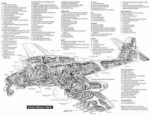 gloster meteor f mk 8 aerospace cutaways and diagrams With airplane diagrams