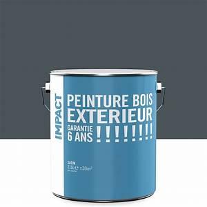 Peinture Bois Extrieur IMPACT Gris 25 L Leroy Merlin