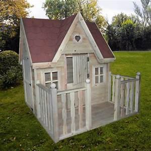 Spielhaus mit veranda kinderspielhaus kinderhaus mass for Französischer balkon mit kinderhaus für garten