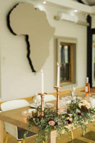 elegant copper rose gold blush geometric wedding