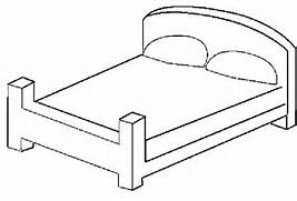 bed printable coloring