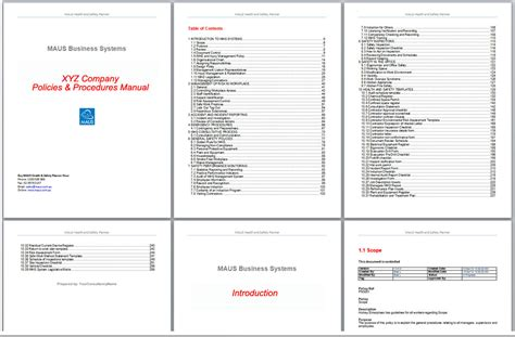 Company Procedures Manual Template by Operations Manual Template Microsoft Small Business