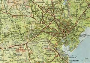 Cardiff England Map