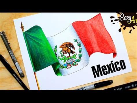 Cómo dibujar la Bandera de México / how to draw the flag ...