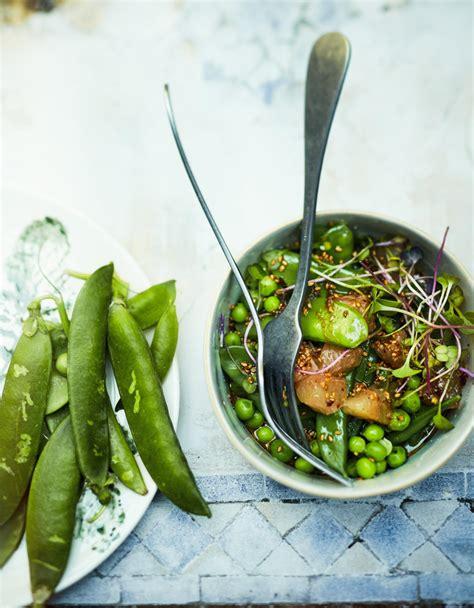 cuisiner des pois gourmands salade de petits pois pois gourmands plemousse pour 6