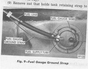Fuel Tank Sending Unit  Fuel Gauge Ground Strap