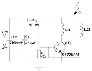 Беспроводная передача энергии качер Бровина . kavmaster