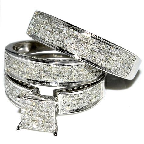 white gold wedding rings sets for him and wedding ring sets for him and walmart hnc 1341