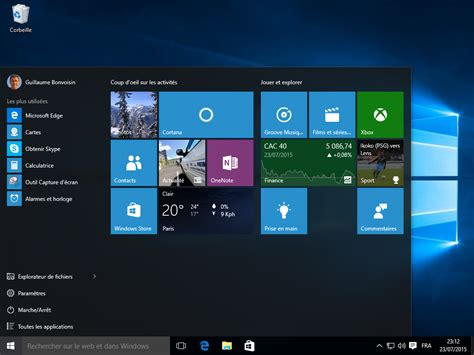 bureau windows windows 10 les nouveautés en images cnet
