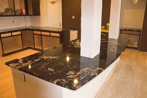 titanium granite countertop on large peninsula with