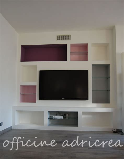 Parete Attrezzata In Cartongesso Per Tv by Parete Attrezzata In Cartongesso Idee Per La Casa